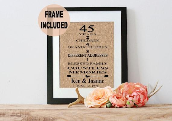 45 hochzeitstag geschenk 45 jahrestagsgeschenk 45 jahre. Black Bedroom Furniture Sets. Home Design Ideas