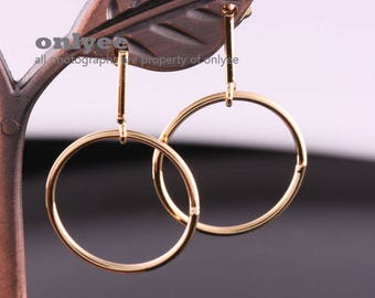 1pair/2pcs-31mmX20mmX1.25mm Gold plated Brass Hook Earring, Ear Wires Earring Findings, Earrings Connectors(K1310G)
