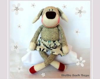 Handmade Puppy Boy Sock Plush Toy