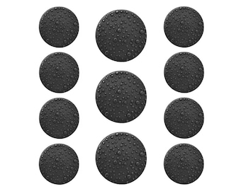 11 pc Dark Sprinkles Metal Blazer Button Set Black Color