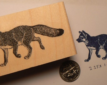 Fox rubber stamp WM P23