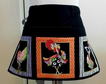 Cluck cluck zip and tuck craft vendor half apron