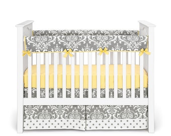 grey and yellow nursery bedding etsy