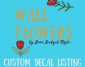 Custom Mini-Set of five (5) Decals Organization Stickers