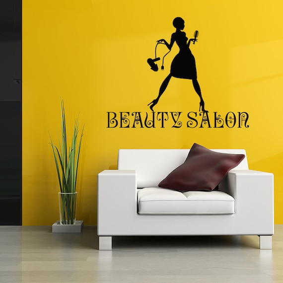 Wall Decal Beauty Salon Sign Murals Hairdresser Hairstyle Hair