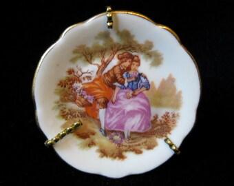 Vintage Miniature Limoges Plate Fragonard, miniature Fragonard, miniature Limoges