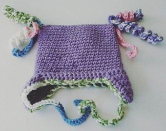 Curly Q Crochet Hat