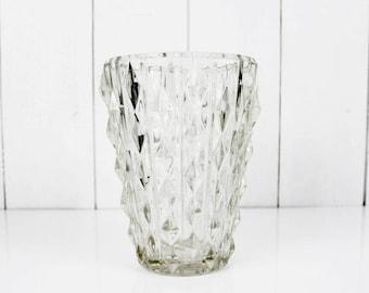 Français coupe Vase Vintage grand Vase en verre, en verre Vase, Vase en verre moderne, Vase Vintage Français, fleur Vintage Vase en verre fleur Vase Français
