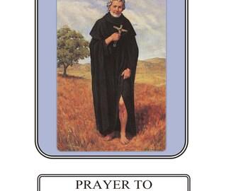 Saint Peregrine Prayer Card