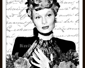 Lucille Ball - I Love Lucy Art - One of a Kind Size 8 x 10