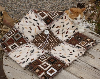 Brown Pet Bed, Pet Bedding, Pet Supplies, Pet Mat, Pet Blankets, Travel Pet Bed, Fabric Pet Quilt ,Lightweight Pet Bedding, Pet Bedding