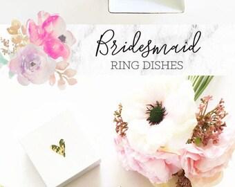 Trinket Dish - Ring Holder - Bridesmaid Ring Dish - Bridesmaid Gifts - Wedding Gifts  (EB3180SM)