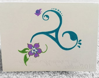 Mother's Day Card - Flower Design - Hand Drawn