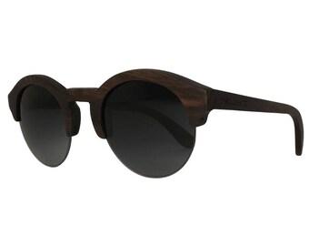 Okulars® Vintage - Lunettes de Soleil en Bois pour Homme & Femme, Fait à la Main - Taille unique - Lentilles Miroir - UV400 - Cat.3