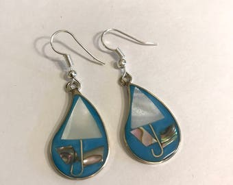 Sail Away Rain Drop Earrings