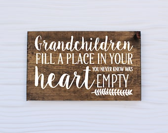 Grandparents Sign | Mothers Day Gift | Mothers Day | Fathers Day Gift | Fathers Day | Nana and Papa | Gift for Grandparents | Christmas