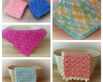 Shabby Chic Dishcloths (6 crochet patterns)