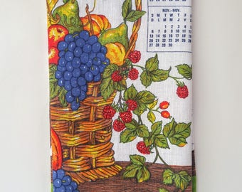 1983 Calendar Tea Towel Wall Hanging Anniversary or Birthday Gift