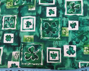 Cotton Fabric - Shamrocks St Patrick's Day 36 inches