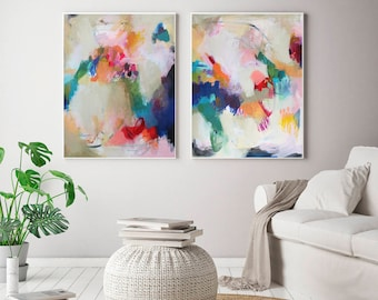 Set of 2 extra large prints Acrylic Abstract Painting Giclee of Original Wall Art abstract wall art large abstract art VictoriAtelier & Large abstract art | Etsy