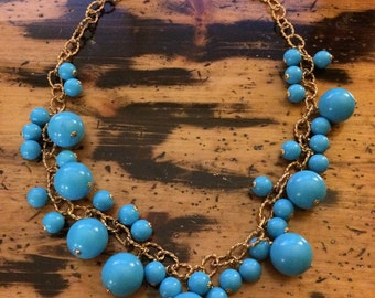 Kenneth Lane Cluster Bead Necklace