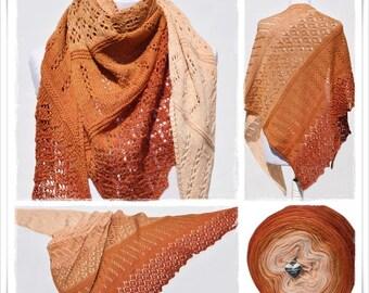 Knitting Pattern Lace Shawl Indian Summer