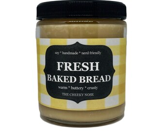 Bread Candle, Soy Candle, Scented Candle, Fresh Baked Bread Candle, Housewarming Gift, Scented Soy Candle, Bakery Candle, Mothers Day Gift
