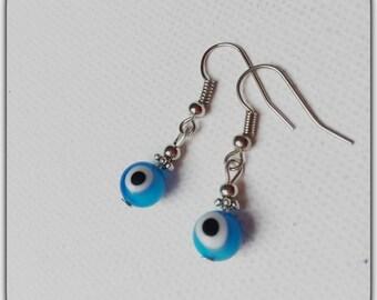 Earrings turquoise eye