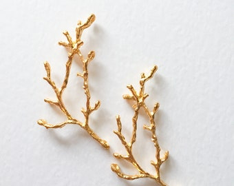 Gold Tone Tree Branch Connectors, Gold Branch Charms