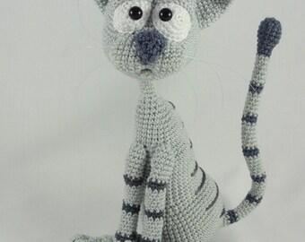 Amigurumi Crochet Pattern - Kit the Cat - English Version