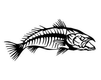 Mean Fish Inspired Vinyl Decal Sticker