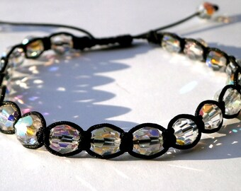 Swarovski Crystal Bracelet, Swarovski Crystal Anklet, Swarovski Beads, Foot Bracelet, Bead Bracelet, Minimalist Bracelet, Energy Bracelet
