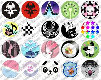 The World Ends With You (TWEWY) Buttons