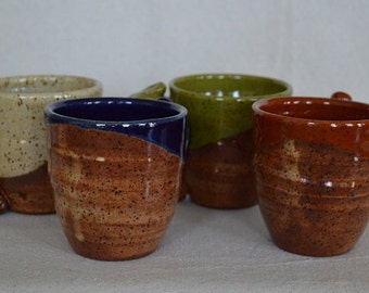 pottery cups, drinking cups, mugs, pottery mugs, coffee cups, espresso cups, sake cups, juice cups