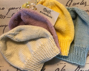 Hand-Knitted Beanie hats