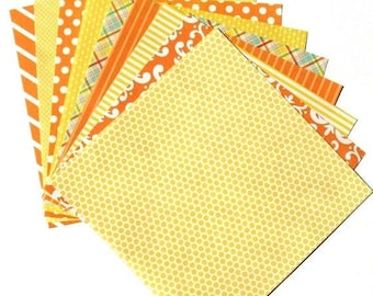 25% OFF - Citrus Yellow - 6x6 Recollections Home Basics Paper Pack - LAST SET