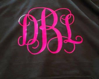 monogrammed sweatshirt, personalized sweatshirt, monogrammed hoodie, Personalize Hoodie/Monogrammed Hooded Sweatshirt