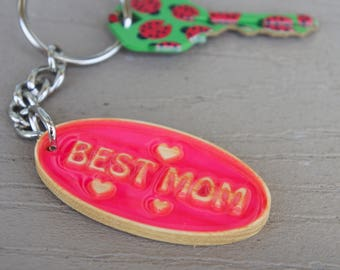Best Mom Key Chain, Glow in the dark, Mother's Day Gift, Housewarming Gift, Gift for Her.