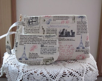 Travel Pouch, Travel Purse, Travel Clutch, Wristlet, Zipper  Bag Set, Smart phone Case, Travel Journal, Handbag