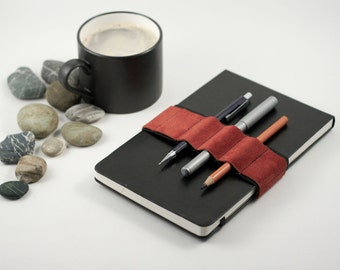Journal Bandolier / Burnt Orange  / replace your pencil case