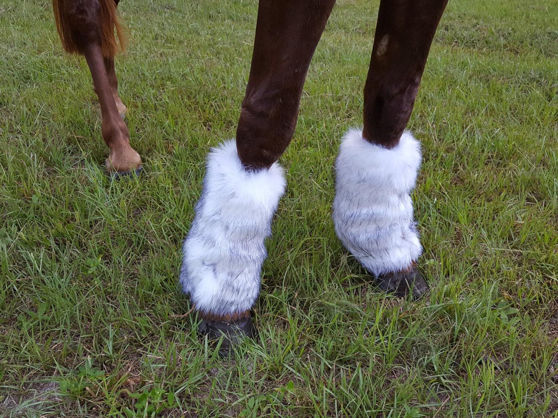 Faux Fur Leggings For Horses Faux Fur Coverings For Equine