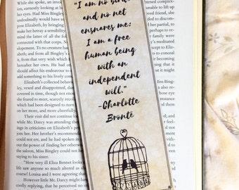 Jane Eyre Charlotte Bronte Quote Bookmark