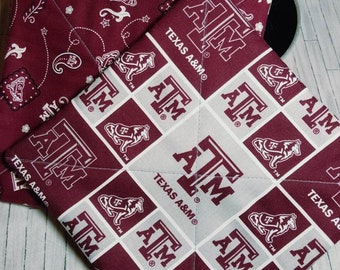 TEXAS AGGIES POTHOLDERS, Hot Pads, Kitchen