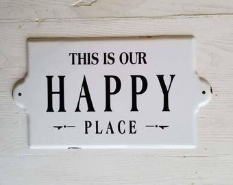 Happy Place Metal Sign Wall Decor