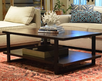 The Martel Coffee Table - Modern Industrial Steel and Oak Table