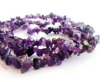 Necklace with Amethyst stones