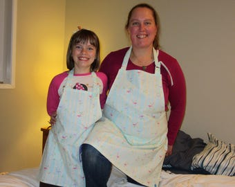 mommy and me aprons - womens aprons - Birch Tree Birds