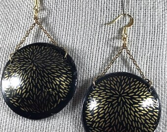 Romantic  Black and Gold Earrings