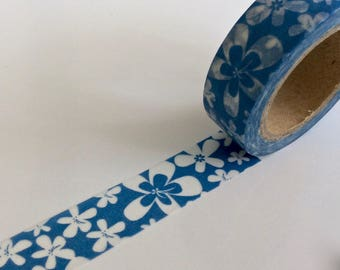 """SALE Washi Tape Floral """"ALOHA""""  15mm x 10meters"""