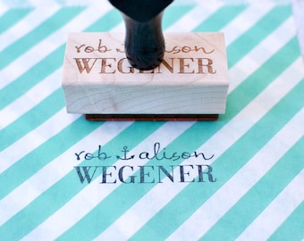 Personalized Anchor Rubber Stamp with Wood Handle